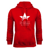 Red Fleece Hoodie-Star Logo