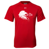 Under Armour Red Tech Tee-Lion Head w/ Celts