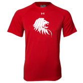 Under Armour Red Tech Tee-Lion Head