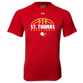 Under Armour Red Tech Tee-St. Thomas Basketball Half Ball