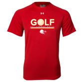 Under Armour Red Tech Tee-Golf w/ Ball