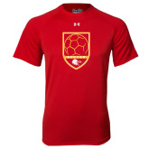 Under Armour Red Tech Tee-Soccer Shield