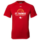 Under Armour Red Tech Tee-St. Thomas Volleyball Stacked