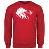 Red Fleece Crew-Lion Head w/ Celts