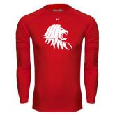 Under Armour Red Long Sleeve Tech Tee-Lion Head