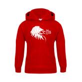 Youth Red Fleece Hoodie-Lion Head w/ Celts