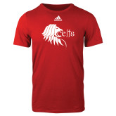 Adidas Red Logo T Shirt-Lion Head w/ Celts