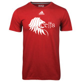 Adidas Climalite Red Ultimate Performance Tee-Lion Head w/ Celts
