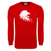 Red Long Sleeve T Shirt-Lion Head