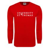 Red Long Sleeve T Shirt-University of St Thomas