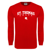 Red Long Sleeve T Shirt-St. Thomas Celts Arched