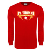 Red Long Sleeve T Shirt-St. Thomas Celts Arched Shield