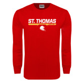 Red Long Sleeve T Shirt-St. Thomas Celts w/ Bar