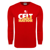 Red Long Sleeve T Shirt-Celt Nation