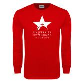 Red Long Sleeve T Shirt-Star Logo