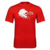 Performance Red Tee-Lion Head w/ Celts