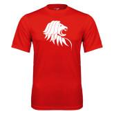 Performance Red Tee-Lion Head