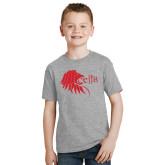 Youth Grey T-Shirt-Lion Head w/ Celts