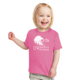 Toddler Fuchsia T Shirt-Official Logo
