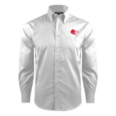 Red House White Dobby Long Sleeve Shirt-Lion Head w/ Celts