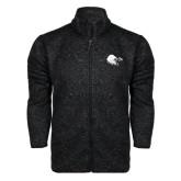 Black Heather Fleece Jacket-Lion Head w/ Celts