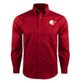 Red House Red Long Sleeve Shirt-Lion Head w/ Celts