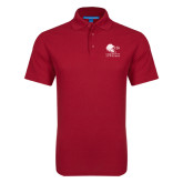 Red Dry Zone Grid Polo-Official Logo