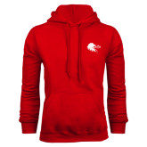 Red Fleece Hoodie-Lion Head w/ Celts