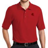 Red Easycare Pique Polo-Lion Head