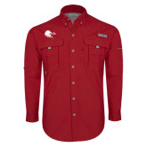 Columbia Bahama II Red Long Sleeve Shirt-Lion Head w/ Celts