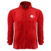 Fleece Full Zip Red Jacket-Lion Head w/ Celts