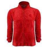 Fleece Full Zip Red Jacket-Lion Head