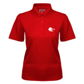 Ladies Red Dry Mesh Polo-Lion Head w/ Celts