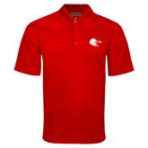 Red Mini Stripe Polo-Lion Head w/ Celts