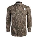 Camo Long Sleeve Performance Fishing Shirt-Lion Head