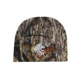 Mossy Oak Camo Fleece Beanie-Lion Head