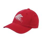 Red OttoFlex Unstructured Low Profile Hat-Lion Head