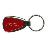 Red Teardrop Key Holder-University of St Thomas Engraved