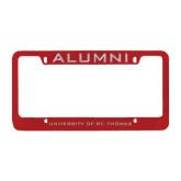 Alumni Metal Red License Plate Frame-Alumni