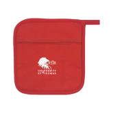 Quilted Canvas Red Pot Holder-Official Logo