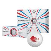 Callaway Supersoft Golf Balls 12/pkg-Lion Head w/ Celts