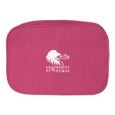 Large Hot Pink Waffle Cosmetic Bag-Official Logo