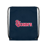 Nylon Navy Drawstring Backpack-St Johns