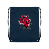 Navy Drawstring Backpack-Mascot