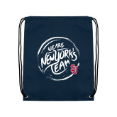 Navy Drawstring Backpack-We are New Yorks Team