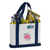 Contender White/Navy Canvas Tote-We are New Yorks Team