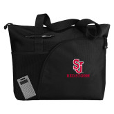 Excel Black Sport Utility Tote-SJ Redstorm Stacked