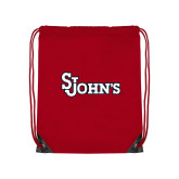 Red Drawstring Backpack-St Johns