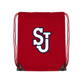 Nylon Red Drawstring Backpack-SJ