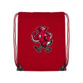 Nylon Red Drawstring Backpack-Mascot